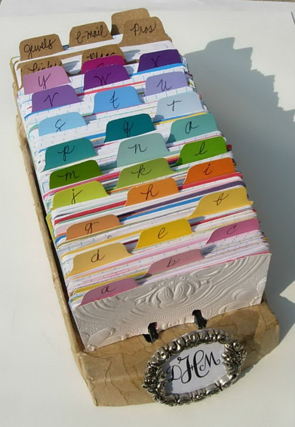 Rolodex In Artful Order