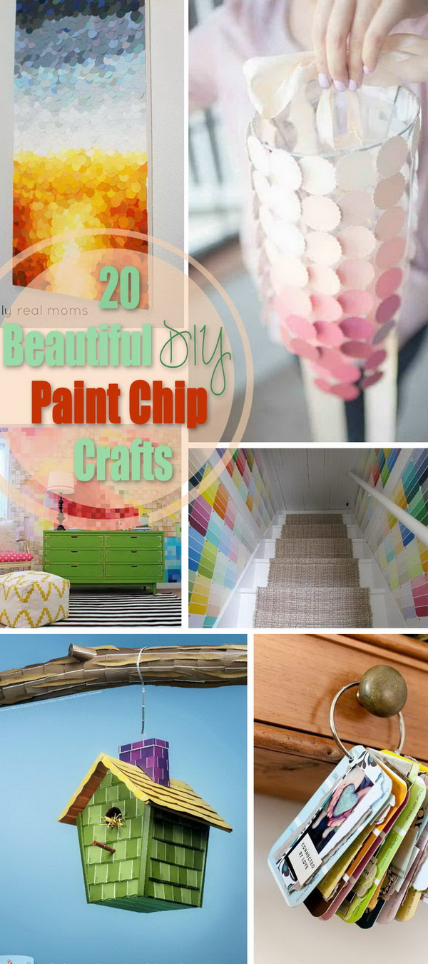 Beautiful DIY Paint Chip Crafts!