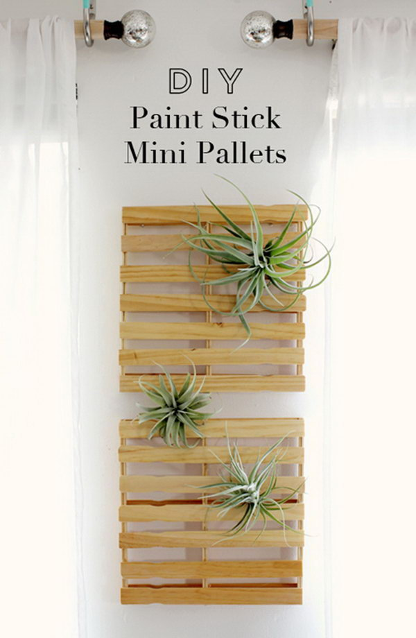 DIY Paint Stick Mini Pallets