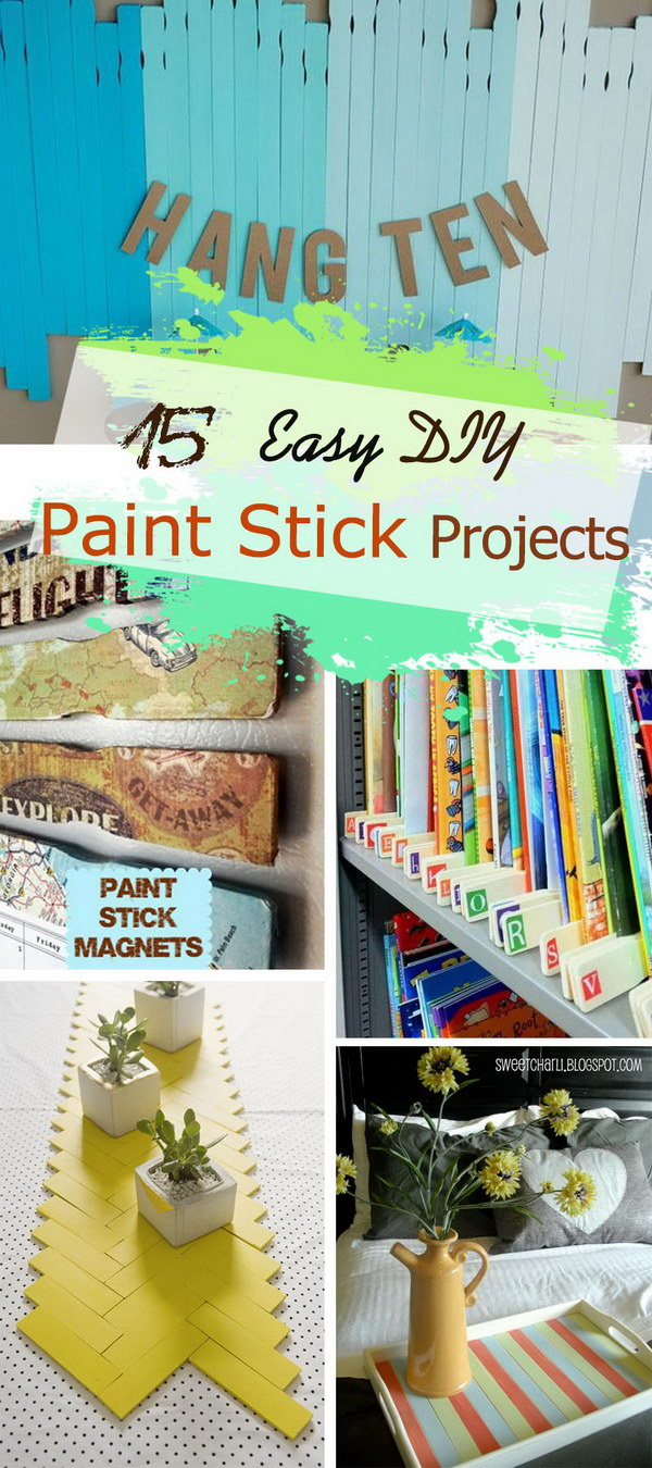 Easy DIY Paint Stick Projects!