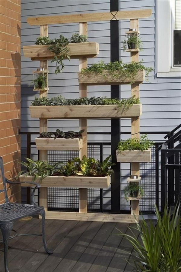 Planter Shelves Out Of Old Pallets