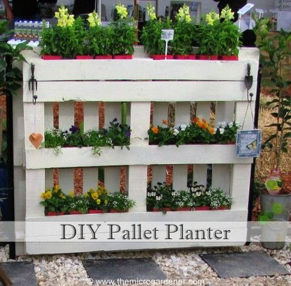Use Diy Pallet Planter As A Compact Solution For Your Garden
