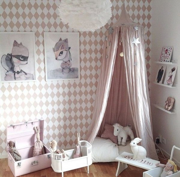 Cute Girl Reading Corner