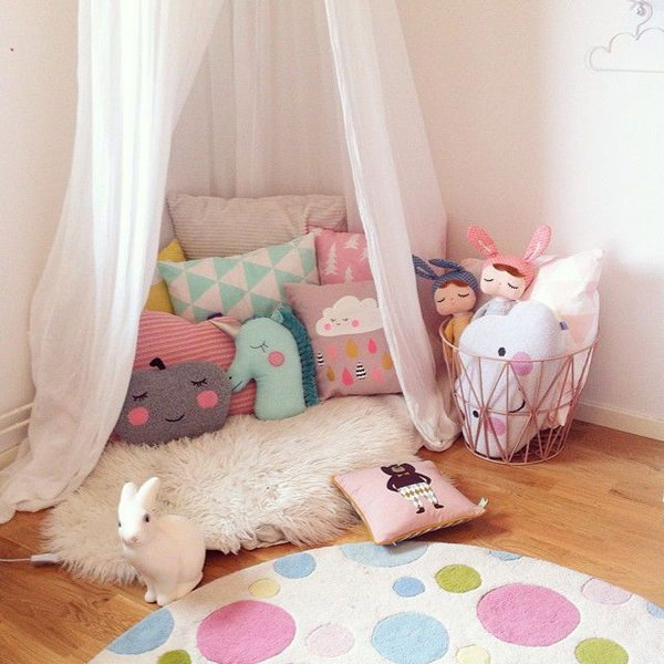 Pretty Reading Nook For Girl