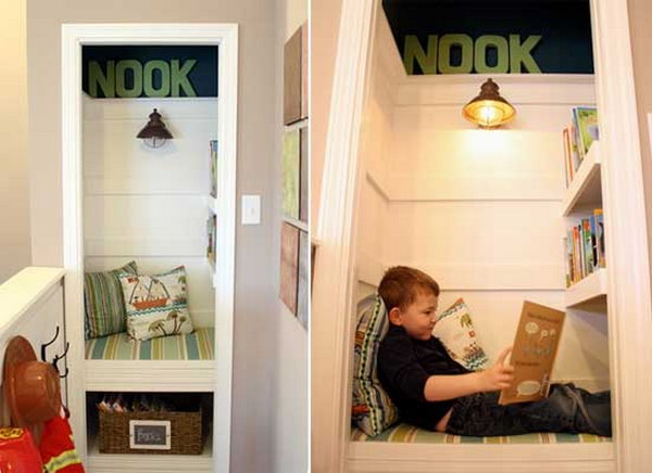 Closet Turned Book Nook