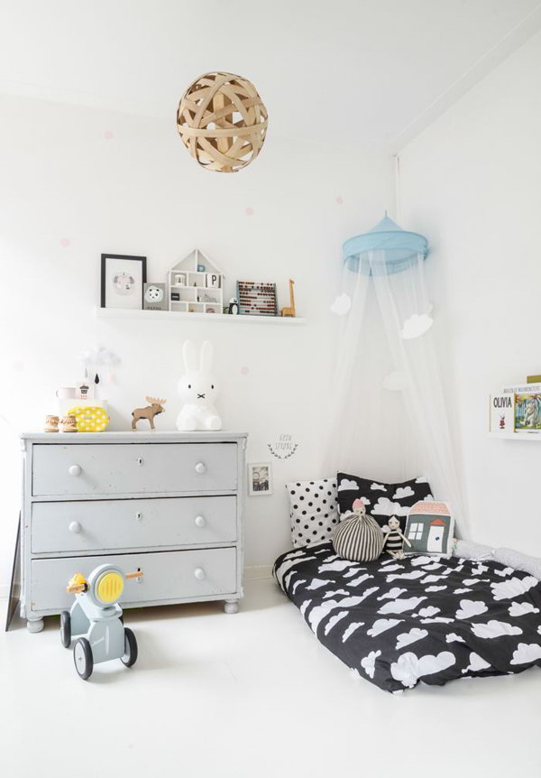Grey Reading Nook For Kids