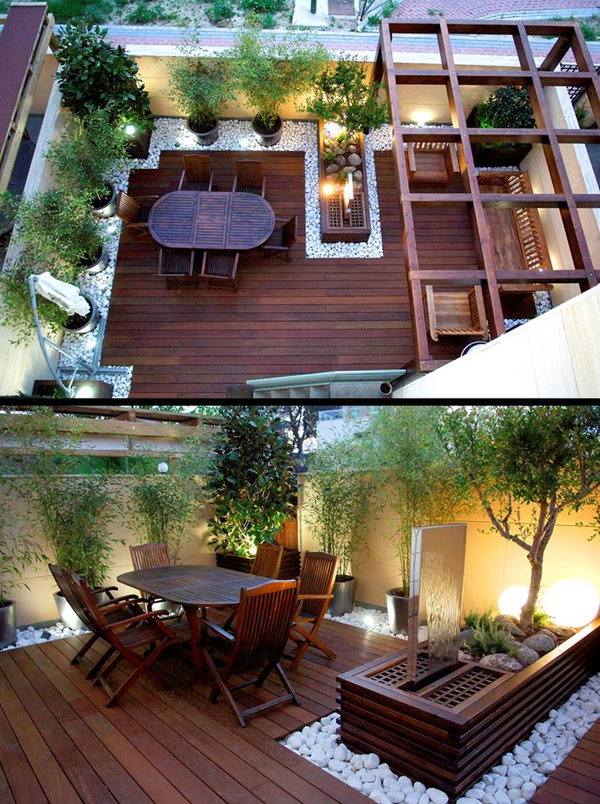 Wooden Rooftoop Garden Furniture