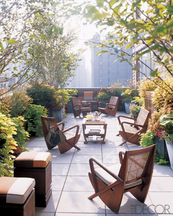 Simple Rooftoop Garden Furniture