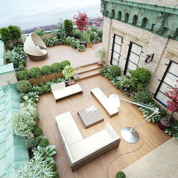Beautiful Rooftoops Garden