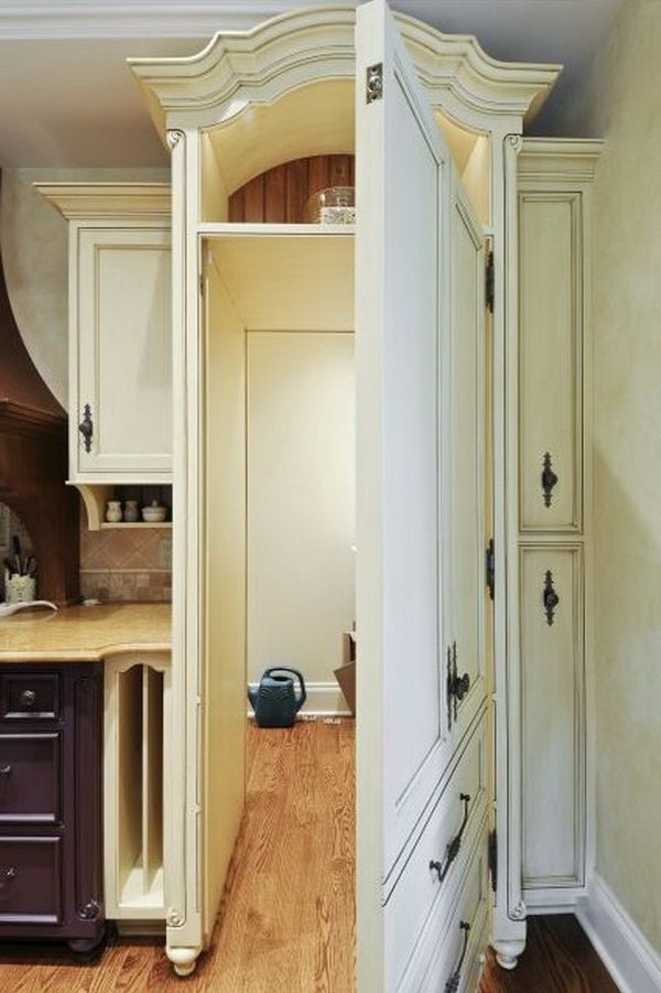 Secret Pantry Room Behind Kitchen Cupboard