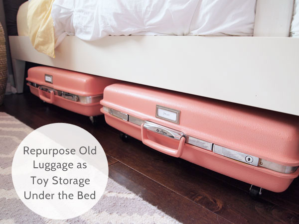 Suitcase Toy Storage Idea For Kids' Room