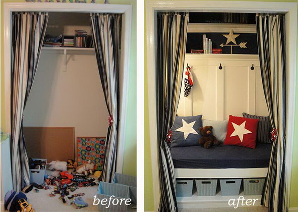 Turn The Closet Into A Toy Organizer