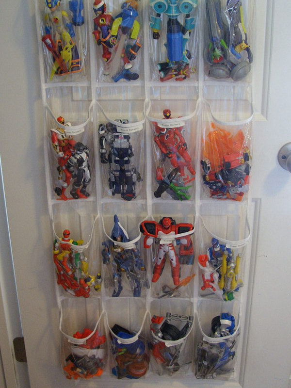 Shoe Organizer Can Also Be Used For Toy Storage