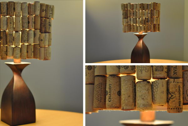 Homemade Wine Cork Lampshade