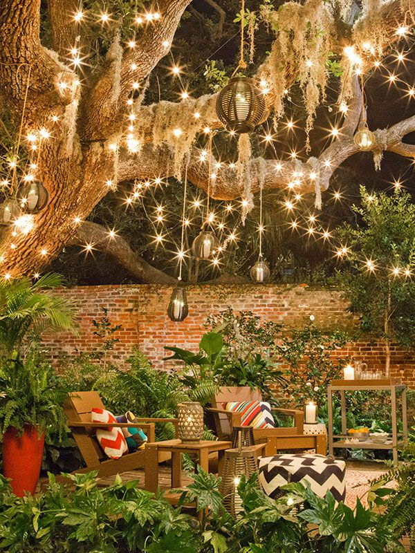 2 backyard lighting ideas
