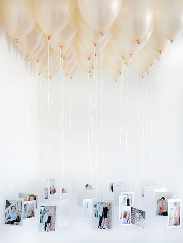 Balloon Photo Chandelier.
