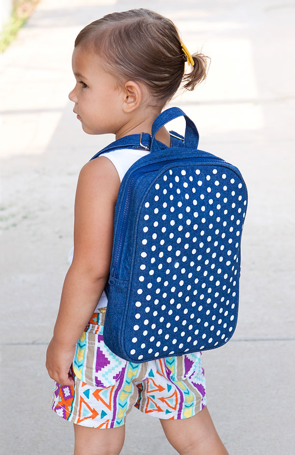Polka Dot Backpack. Check out the tutorial