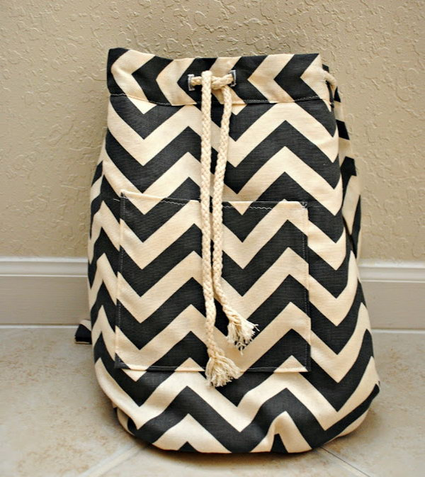 Chevron Backpack. Get the tutorial