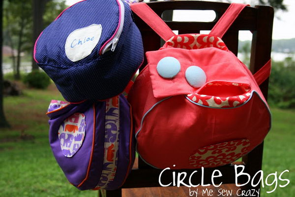 Circle Backpack. See the directions