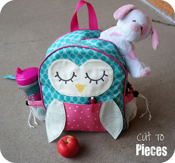 Owl Tag Along Toddler Backpack. See how to make it
