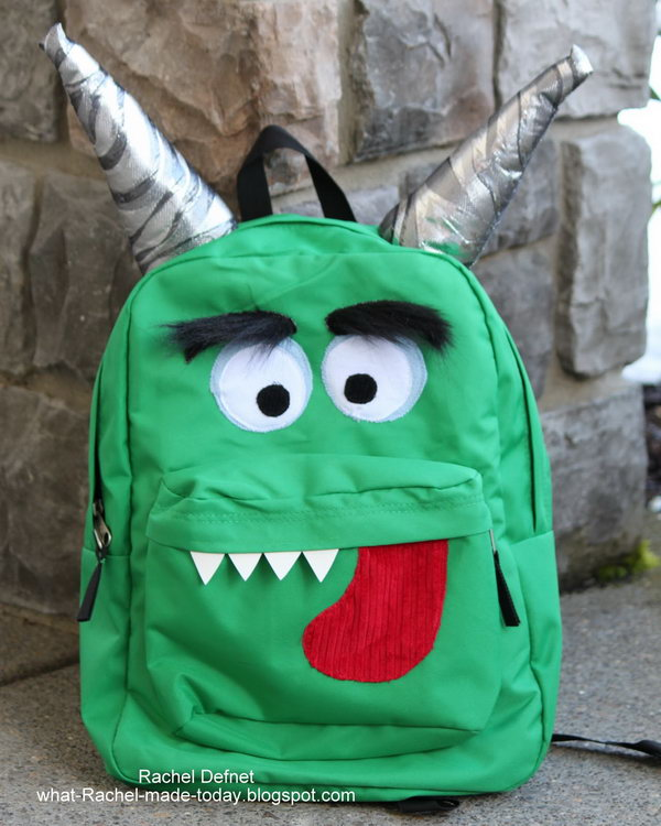 Monster Backpack. Get the directions