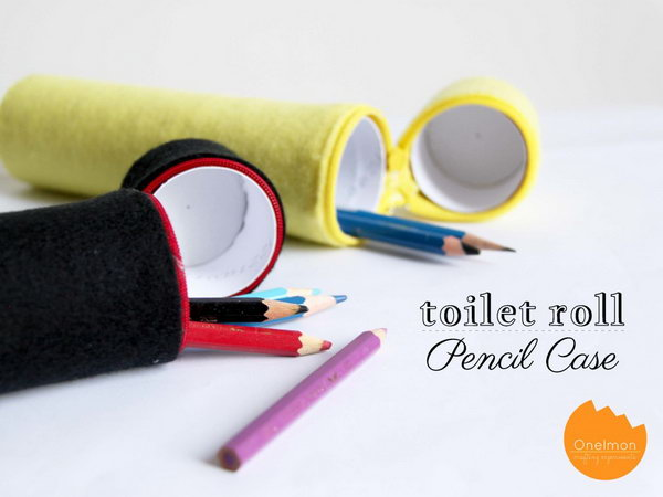 Toilet Paper Roll  Pencil Case.  Check out more
