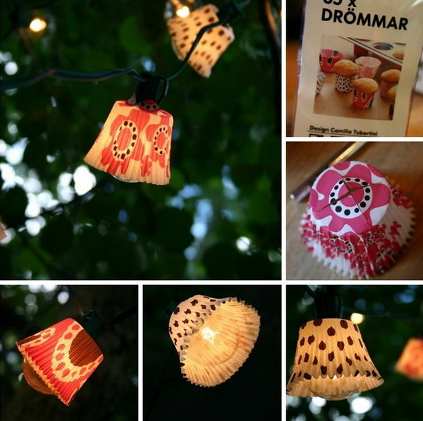 Cupcake Lights. Check out more instructions