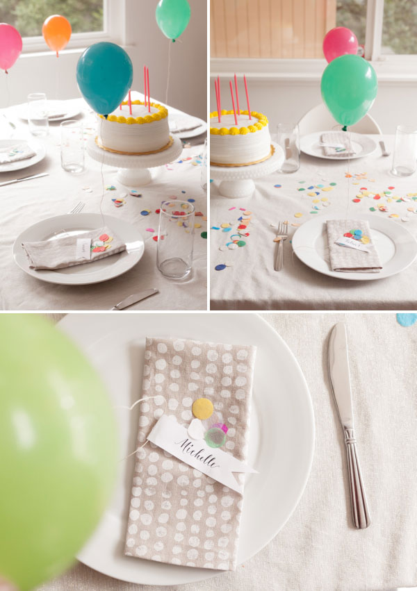 Mini Balloon Placecards.