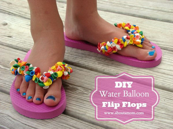 DIY Balloon Flip Flops.