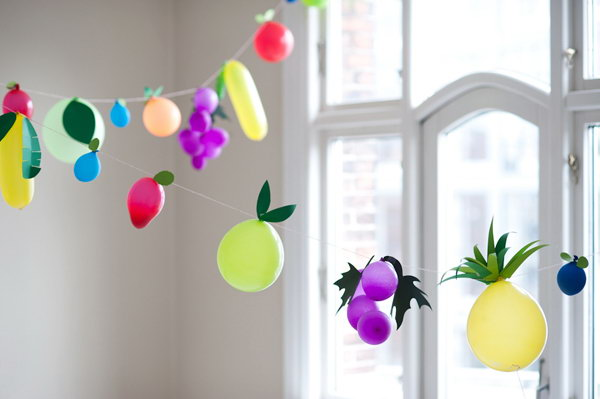 Fruit Balloons DIY.