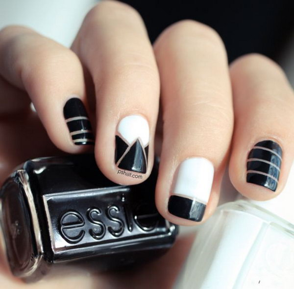 Fashionable Nail Art Inspired by Alexander Wang.