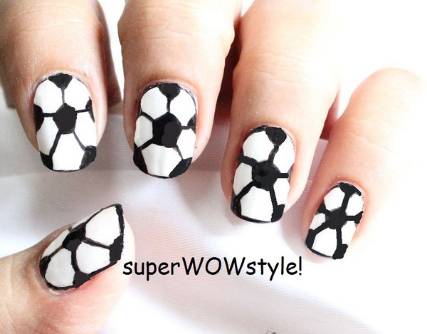 Football Nail Design Ideas.