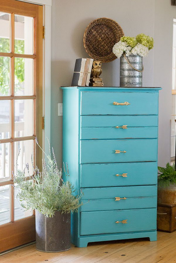 Chippy Turquoise Chalk Paint Dresser