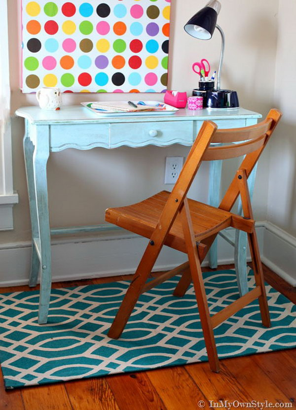 DIY Chalk Painted Desk