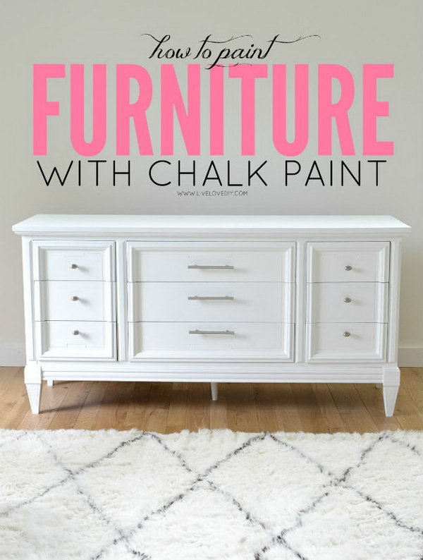 Paint Dresser with Chalk Paint