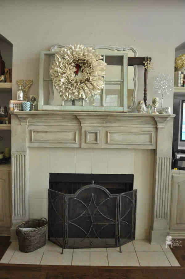 Chalk Paint Fireplace Mantel