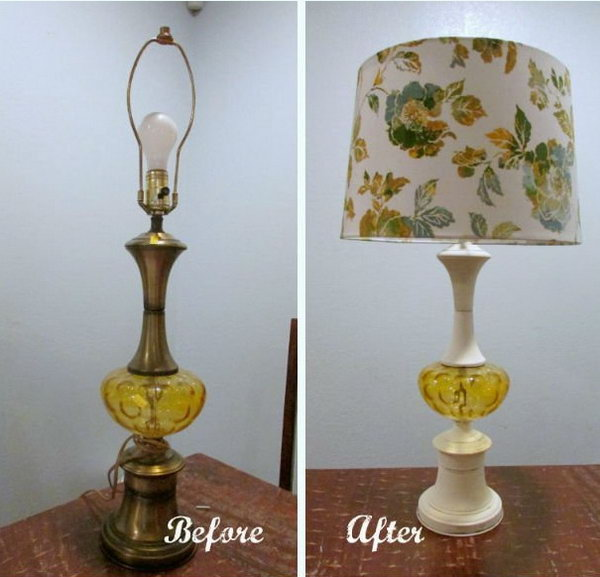 Easy Lamp Makeover Using Chalk Paint