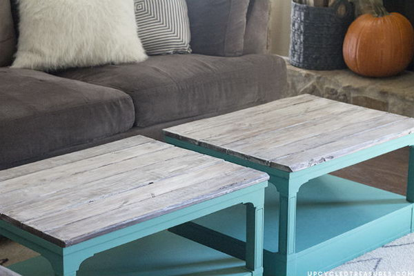 Upcycled Coffee Tables Using Chalk Paint