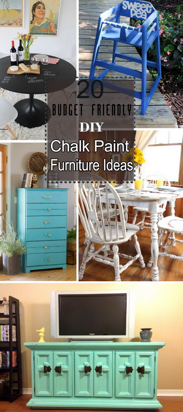 Lots of Budget Friendly DIY Chalk Paint Furniture Ideas!