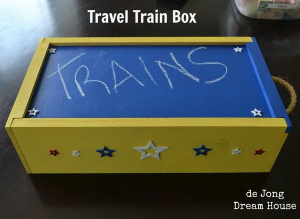 DIY Travel Train Box for Kids