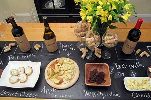 Organize Party Foods With Chalkboard Paint