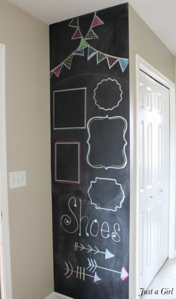 DIY Chalkboard Wall for Kids' Room