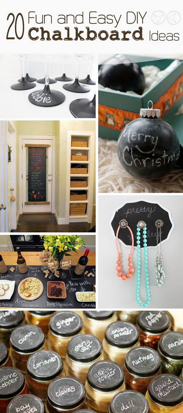 Fun and Easy DIY Chalkboard Ideas!