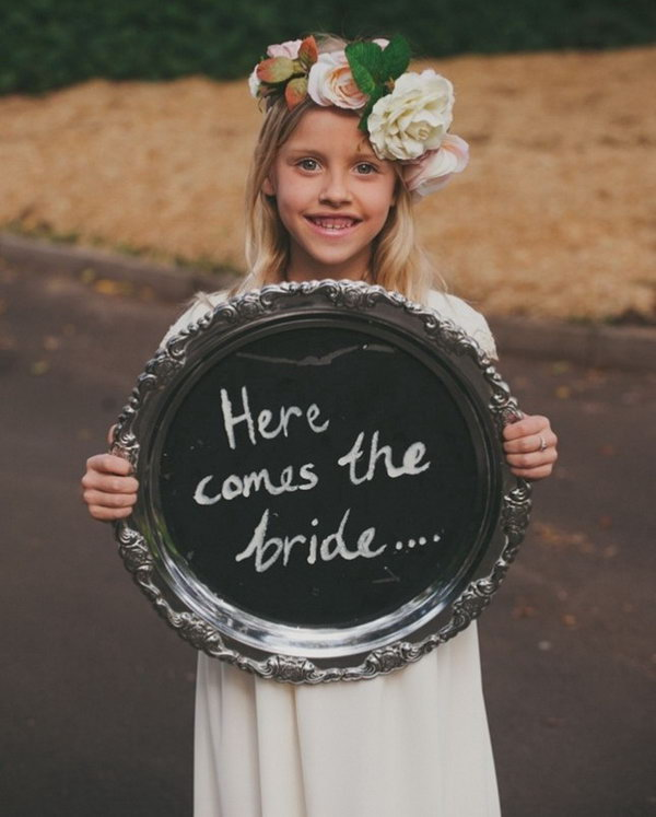 Flower Girl Sign.