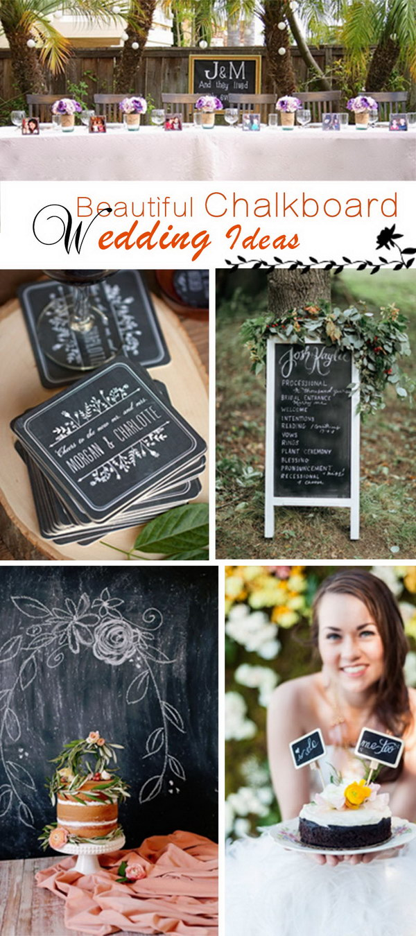 Beautiful Chalkboard Wedding Ideas!