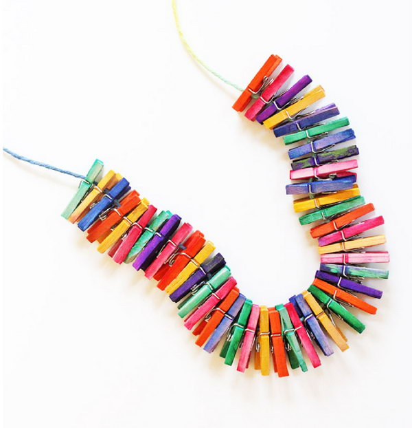Mini Clothespin Necklace.
