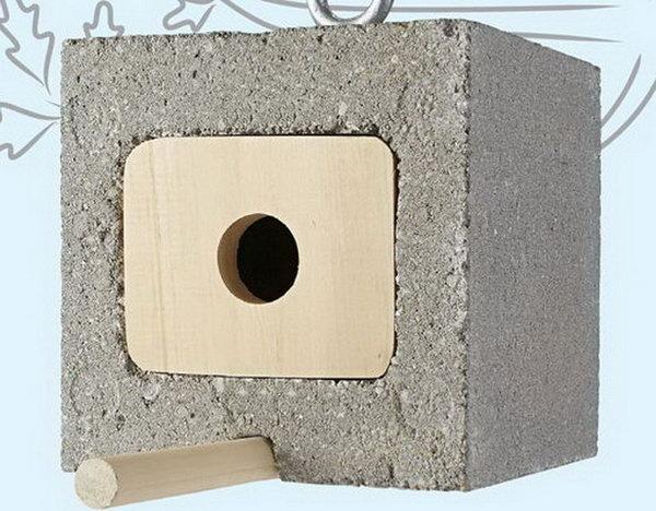 Cinder Block Birdhouse.
