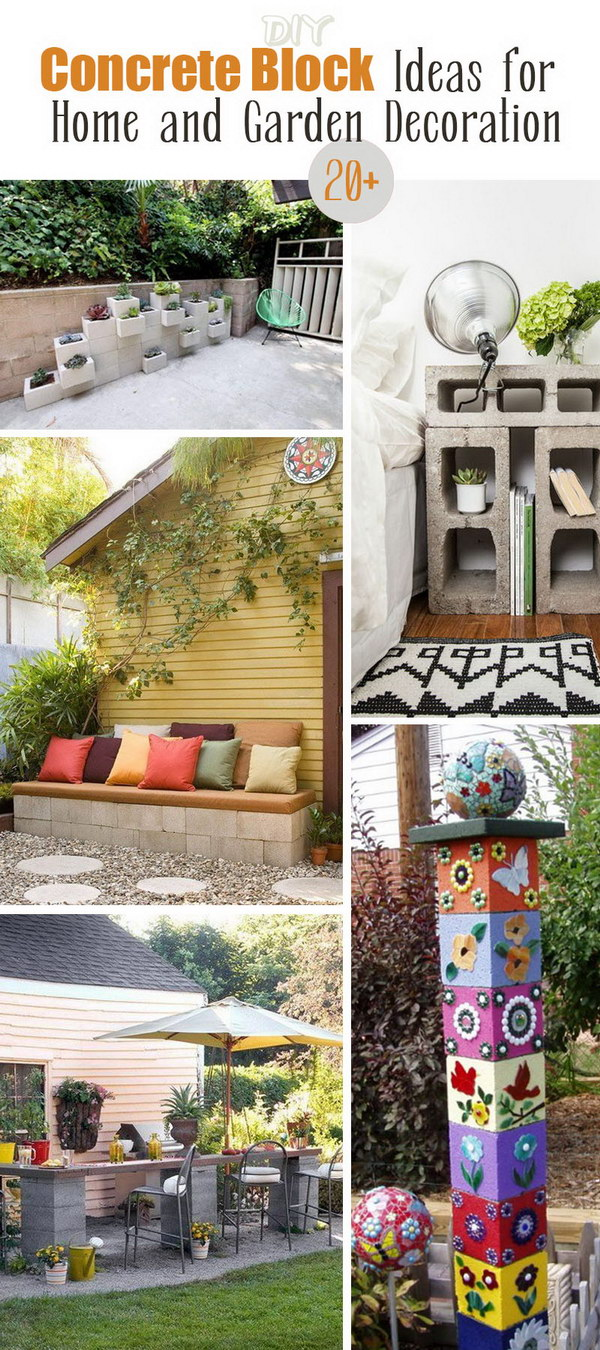 DIY Concrete Block Ideas for Home and Garden Decoration!
