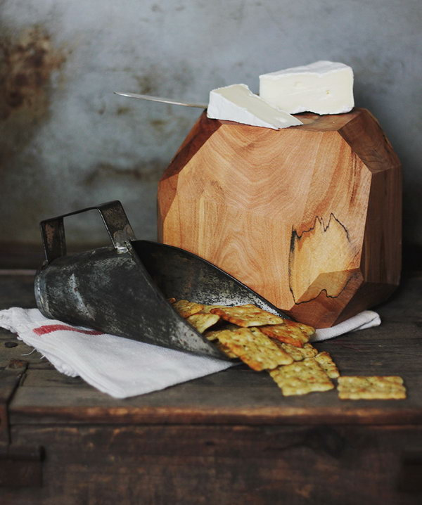 Geometric Cheese Block. See how to make it