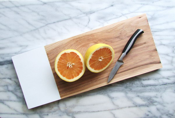 Handmade Hickory Chop Board. Be sure to choose a plastic paint that will be food safe and easy to wipe down after you've had food on it. Get the tutorial
